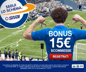 bonus di benvenuto 15 euro